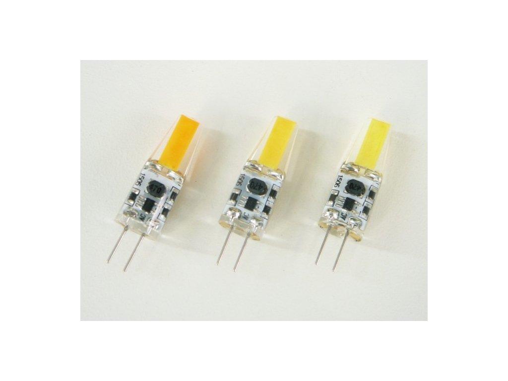 LED žárovka G4 COB3W - Teplá bílá