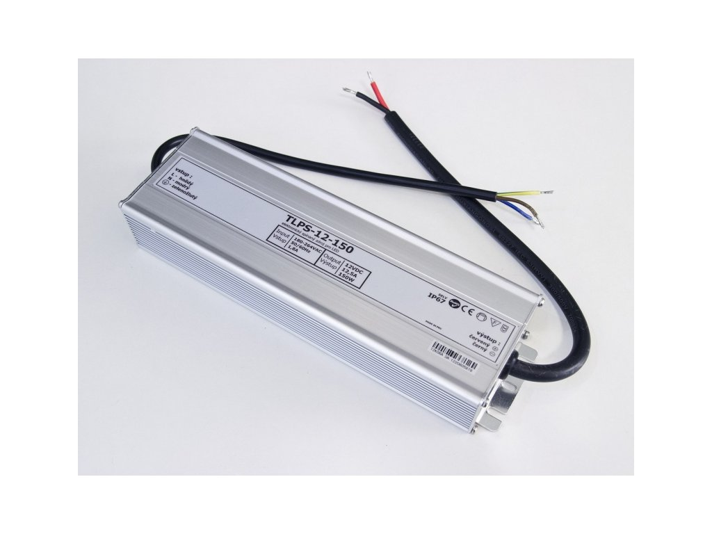 LED zdroj 12V 150W IP67 - 12V 150W zdroj IP67 TLPS-12-150