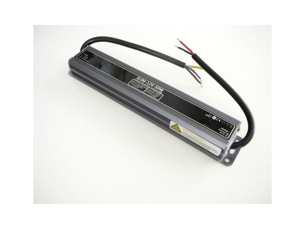 LED zdroj 12V 50W IP67 SLIM-12V-50W - SLIM-12V-50W zdroj IP67