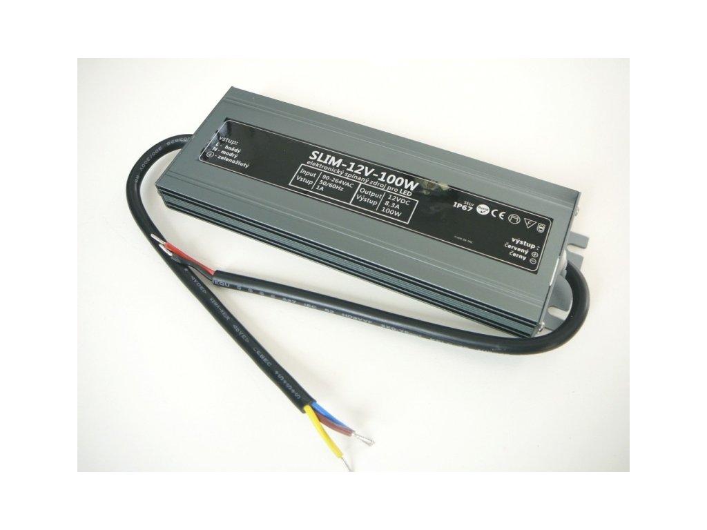 LED zdroj 12V 100W SLIM-12V-100W - SLIM-12V-100W zdroj IP67