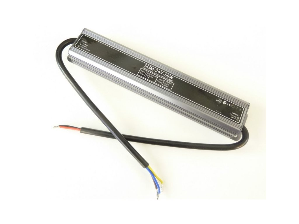 LED zdroj 24V 60W IP67 SLIM-24V-60W - SLIM-24V-60W zdroj IP67