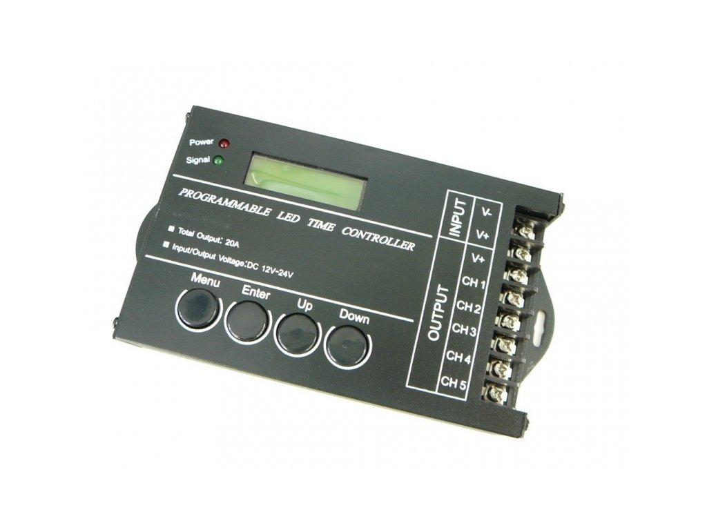 Programovatelný ovladač USB 5CH 20A pro LED - Ovladač USB 5CH 20A programovatelný