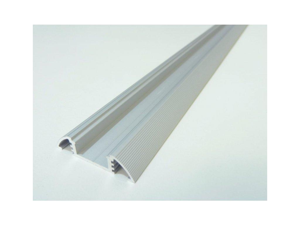 LED profil N10 - nástěnný - Profil bez krytu 2m