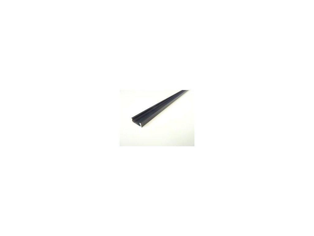 LED profil Mikro 2 černý - Profil bez krytu 1m