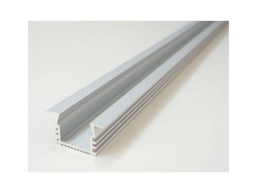 LED profil V6 - vestavný - Profil bez krytu 1m