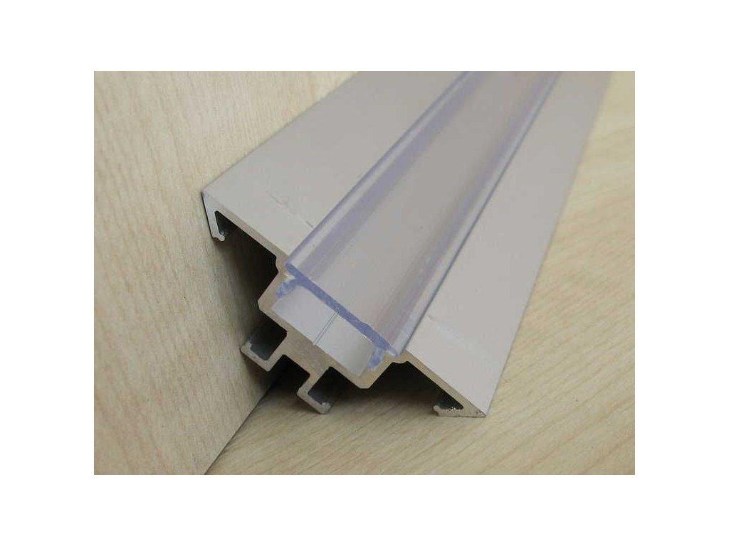 LED profil R1 - rohový - Profil bez krytu 1m