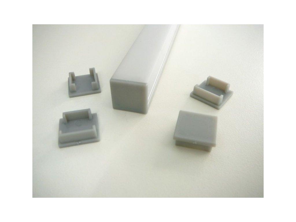Koncovka LED profilu N8H - Plná