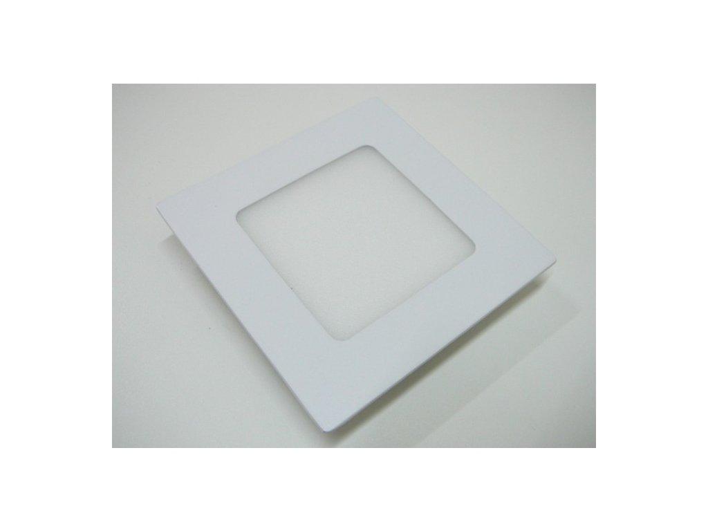 LED podhledové světlo 6W čtverec 120x120mm - Studená bílá