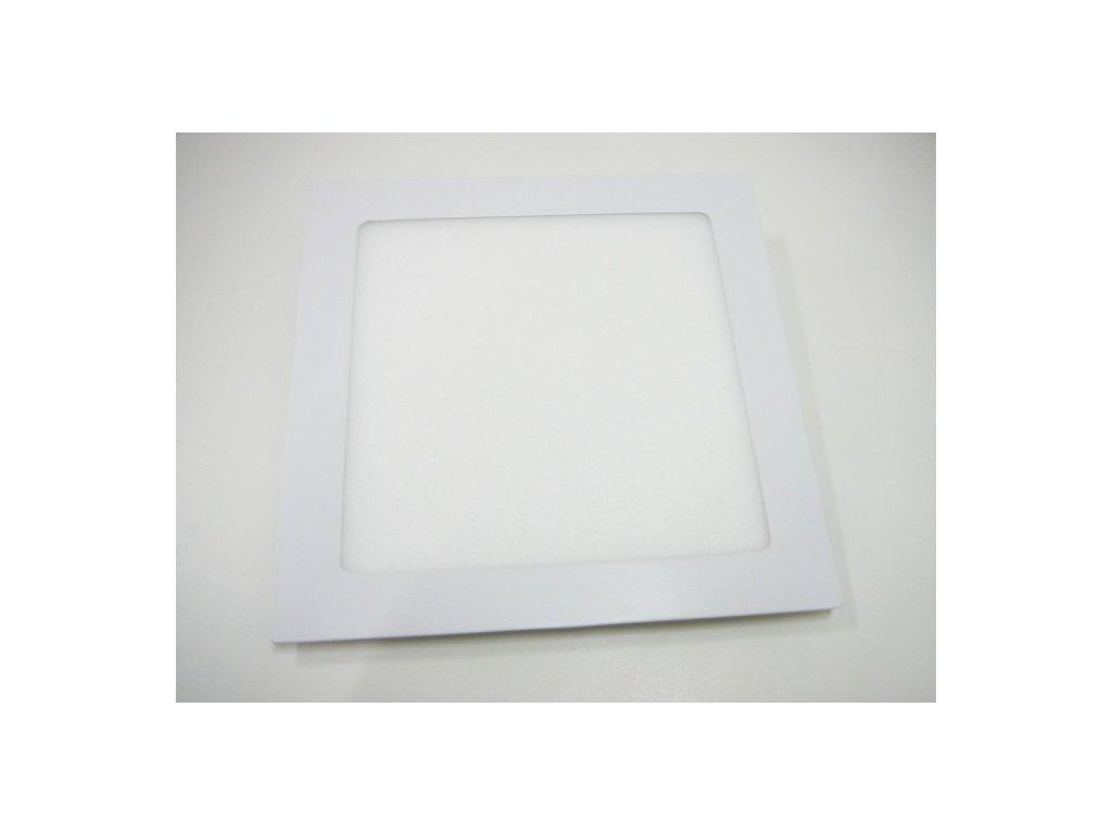 LED podhledové světlo 18W čtverec 225x225mm - Teplá bílá