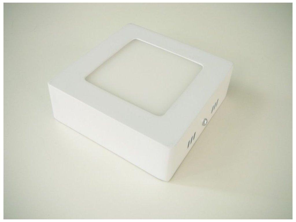LED stropní svítidlo 6W přisazený čtverec 115x115mm - Teplá bílá