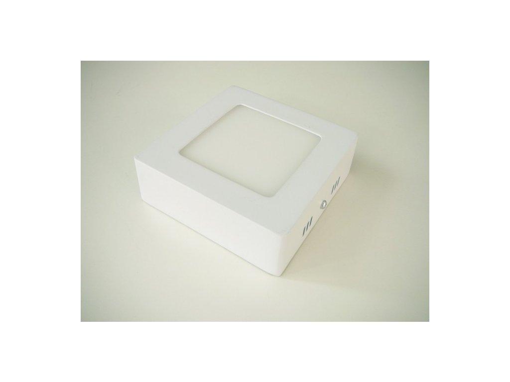 LED stropní svítidlo 6W přisazený čtverec 115x115mm - Studená bílá