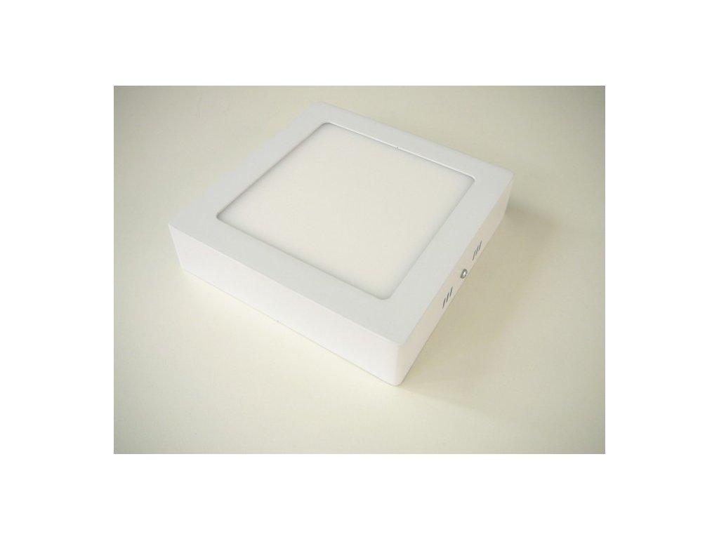 LED stropní svítidlo 12W přisazený čtverec 166x166mm - Teplá bílá