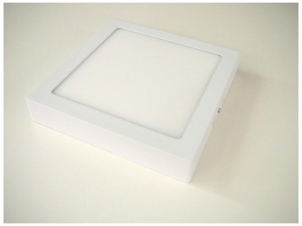 LED stropní svítidlo 18W přisazený čtverec 220x220mm - Studená bílá