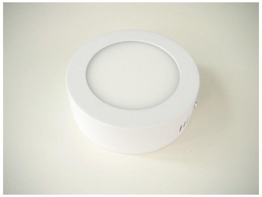 LED stropní svítidlo 6W přisazený kulatý 115mm - Studená bílá