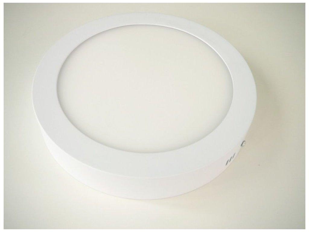 LED stropní svítidlo 18W přisazený kulatý 220mm - Studená bílá