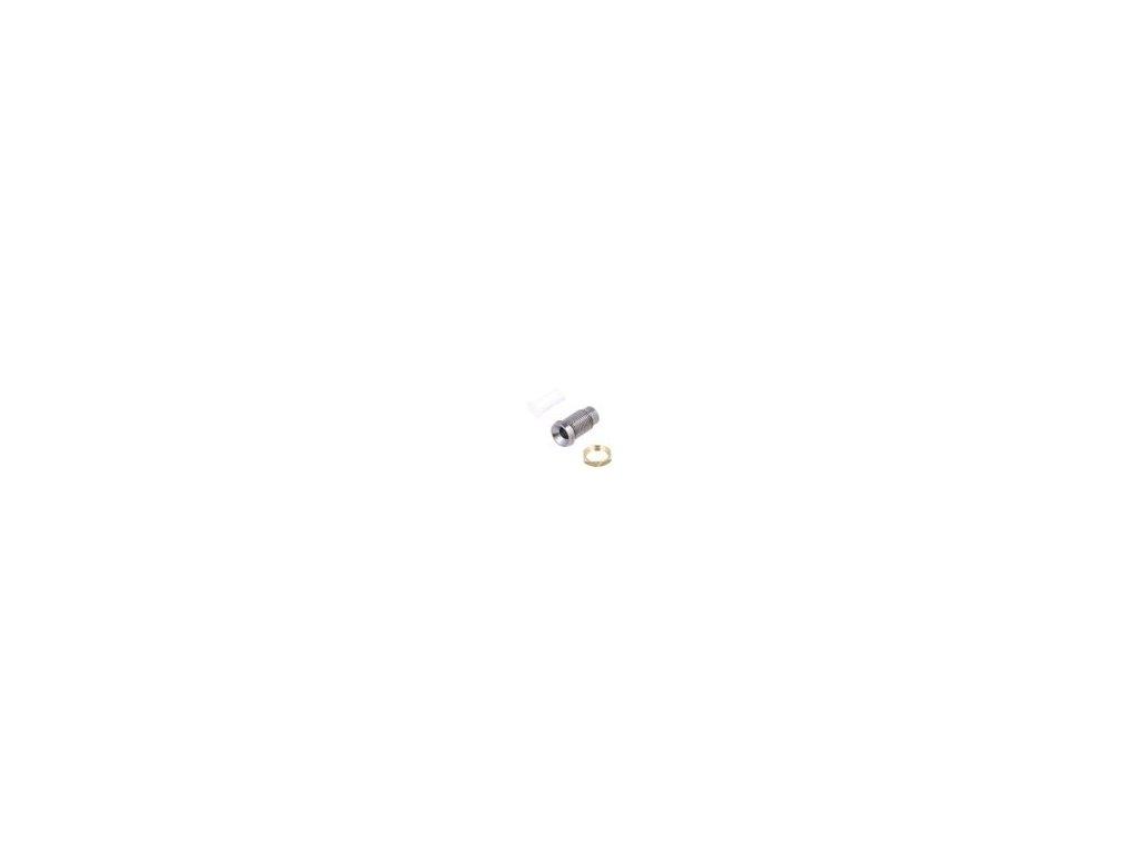 Objímka pro LED 3mm chrom kov vydutá s plastovou záslepkou