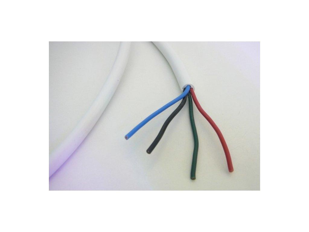 Kabel pro RGB LED pásky kulatý 4 žíly