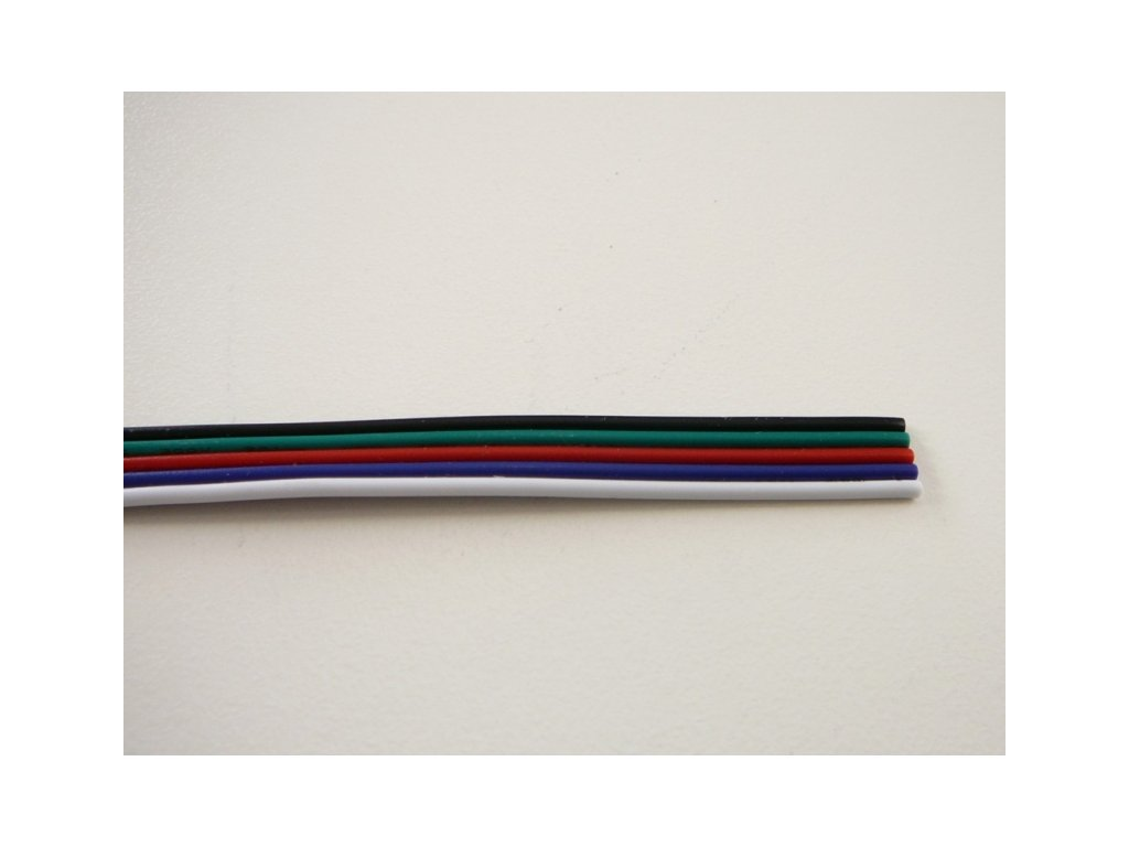 Plochý RGBW kabel - Kabel RGBW plochý 5x0,3