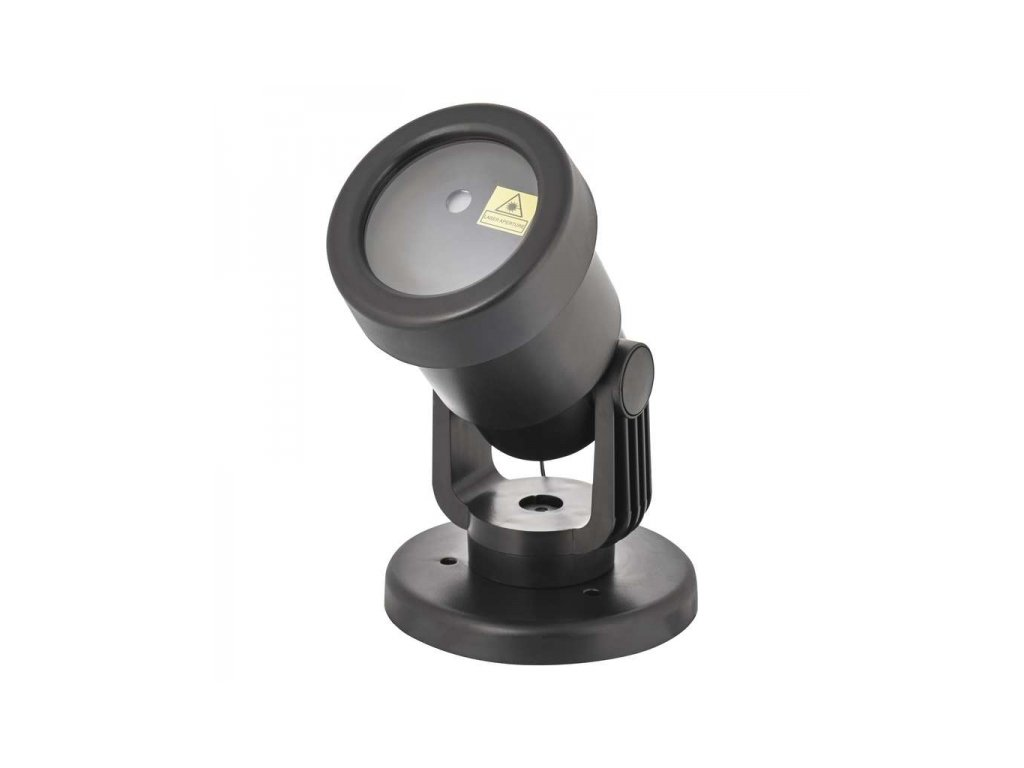 Laserový dekorativní projektor – zel./mod. teč., čas., ovl.