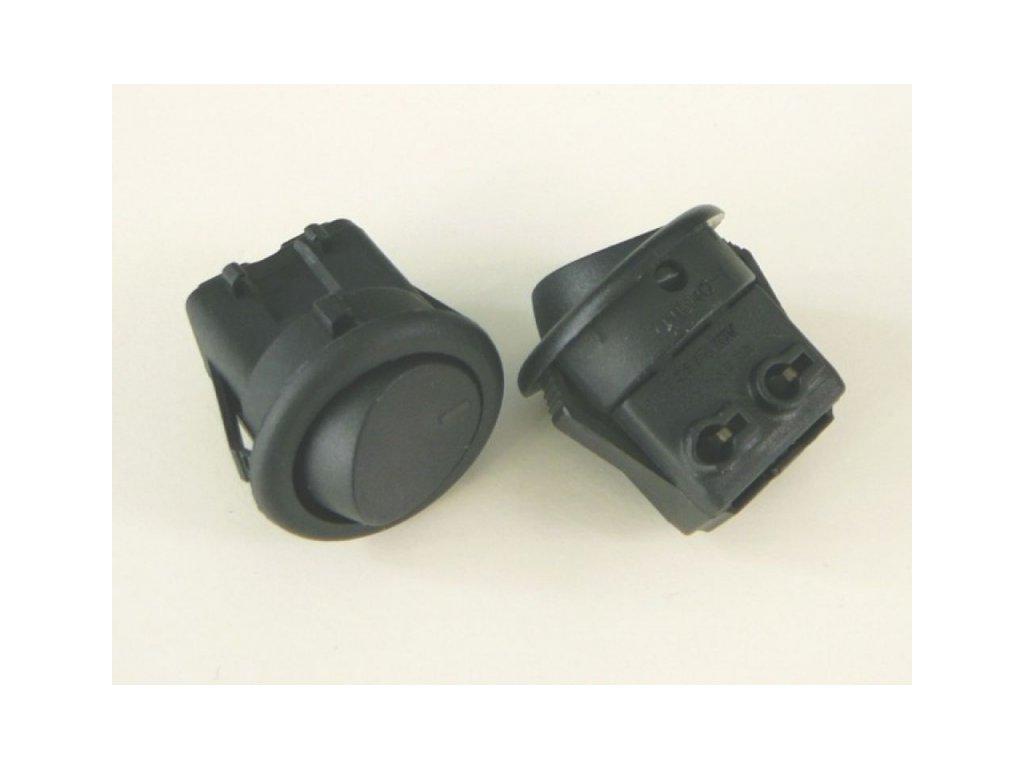 Vypínač kolébkový 250V/3A - Vypínač kolébkový 3A/250V černý
