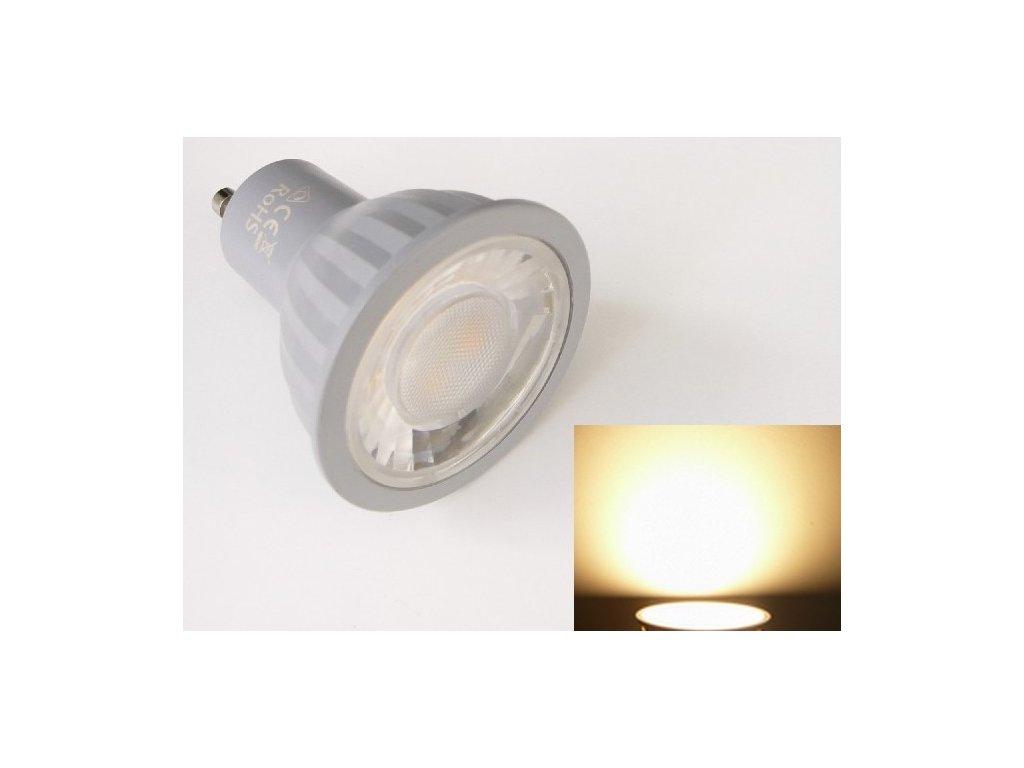 LED žárovka GU10 EV7W - Teplá bílá
