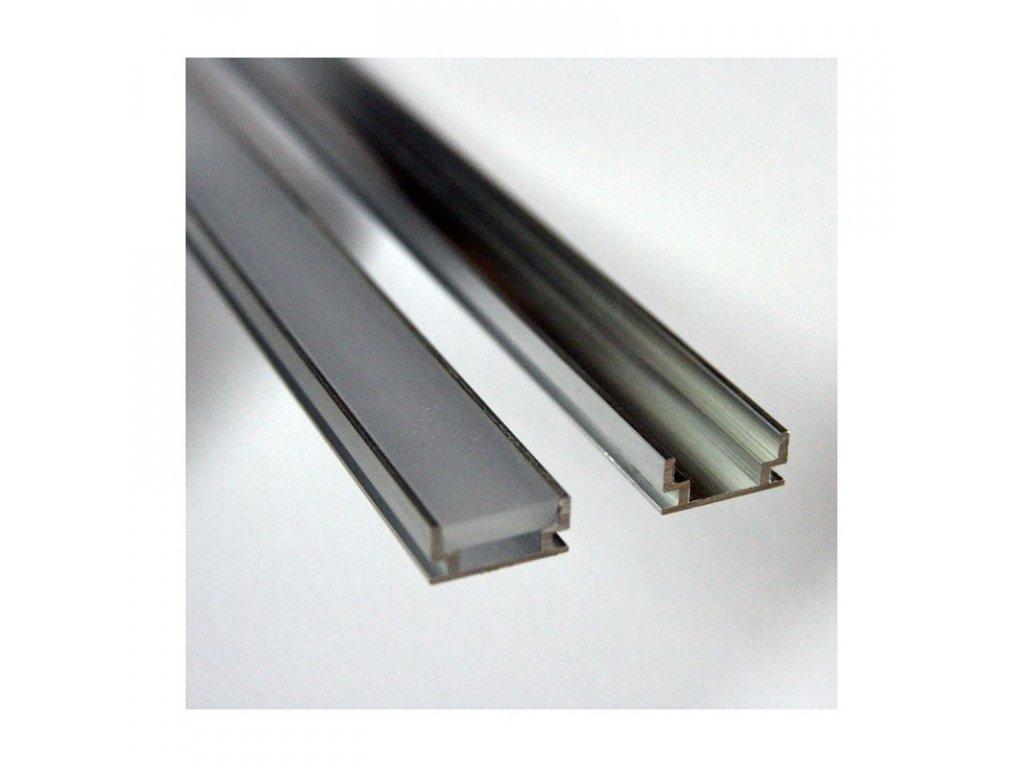 Profil pro moduly LED matná zapuštěné L: 2m hliník