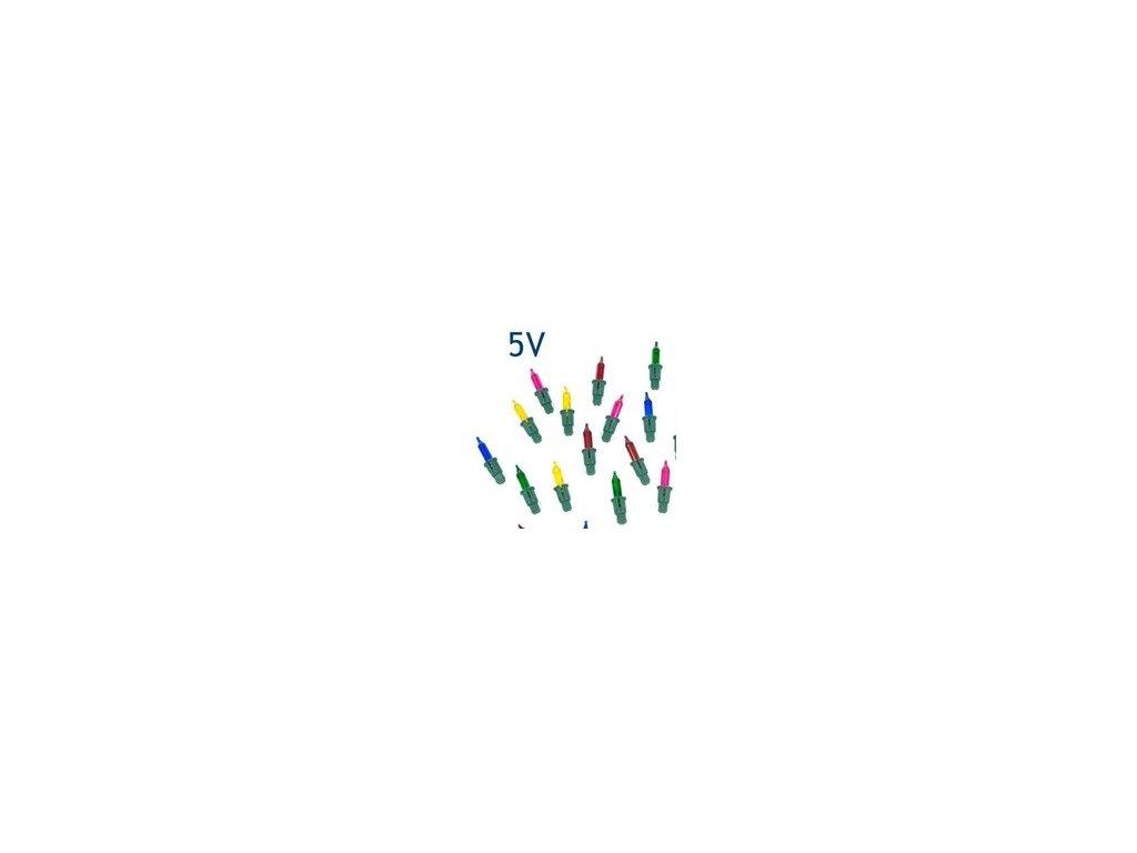 Náhradní žárovička do řetězu 5V 120mA barevná