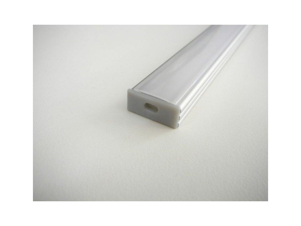 Koncovka LED profilu N2 plastová - S dírou