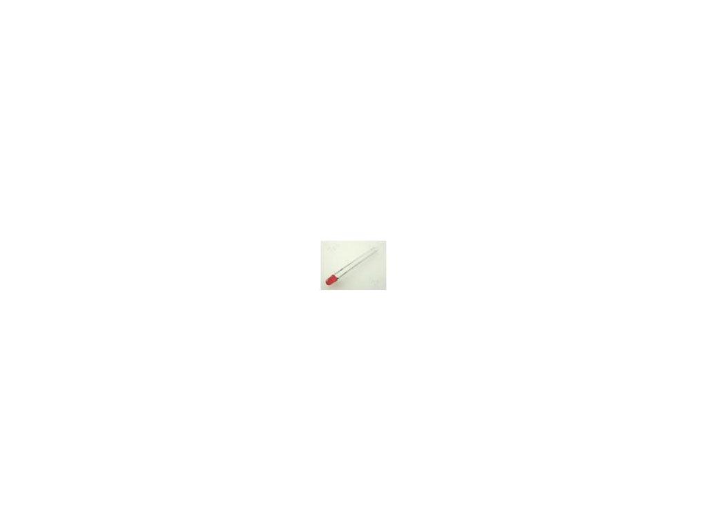 LED 3mm červená 8÷20mcd 60° Čelo: vypouklé Rozteč: 2,54mm