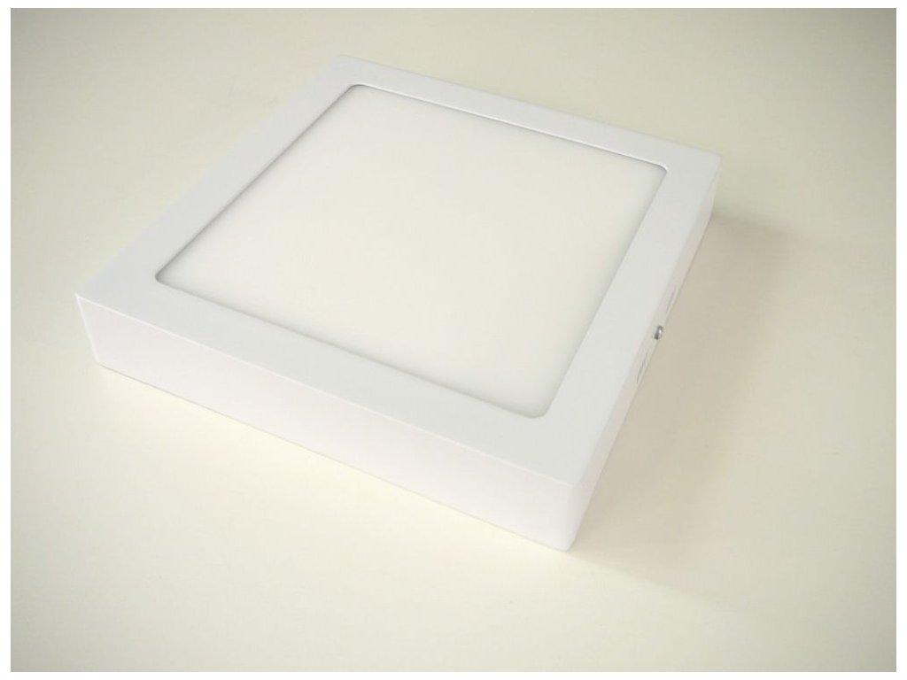 Stropní LED svítidlo 24W přisazený čtverec 300x300mm - Studená bílá
