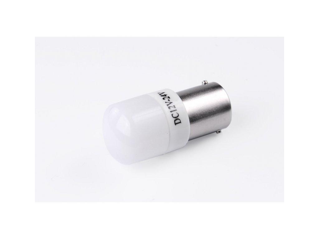 žárovka LED 12V-24V 21W BA15s 6xLED 3030 čirá