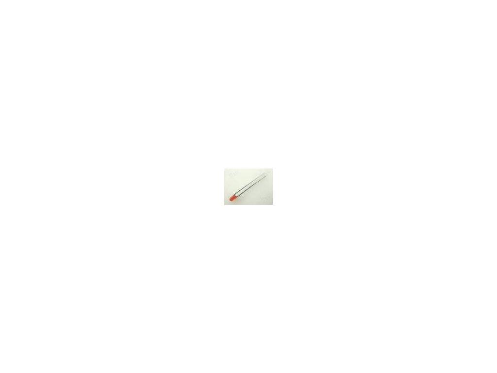 LED 3mm oranžová 20÷125mcd 50° Čelo: vypouklé
