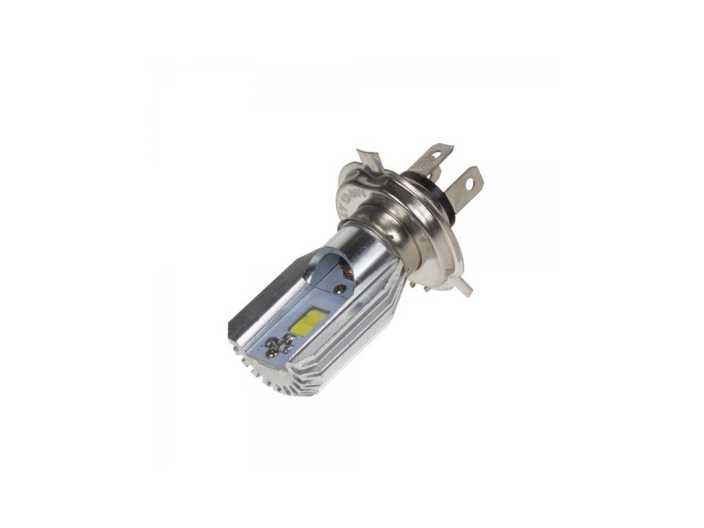 COB LED H4 bílá, 8-80V, motocyklová