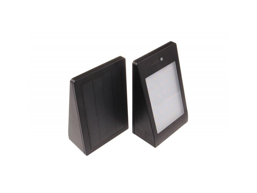 LED solární svítidlo MURO černé - Denní bílá