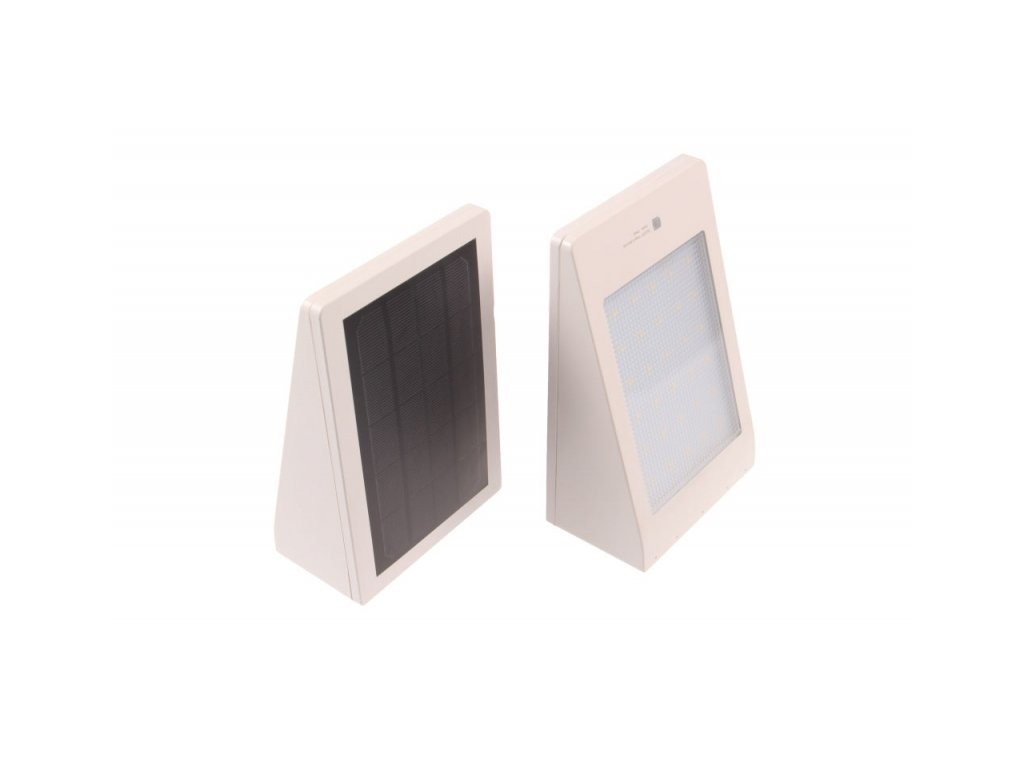 LED solární svítidlo MURO bílé - Teplá bílá