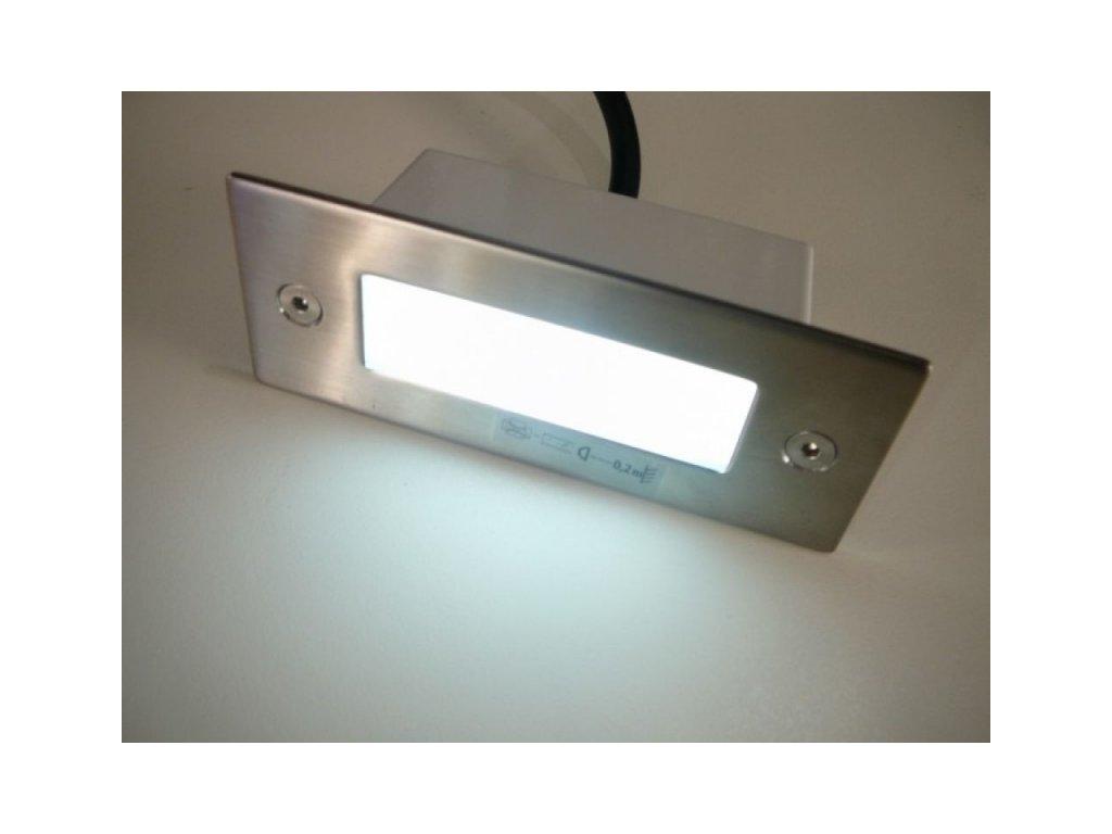 LED vestavné svítidlo TAXI SMD P C/M obdélník - Denní bílá