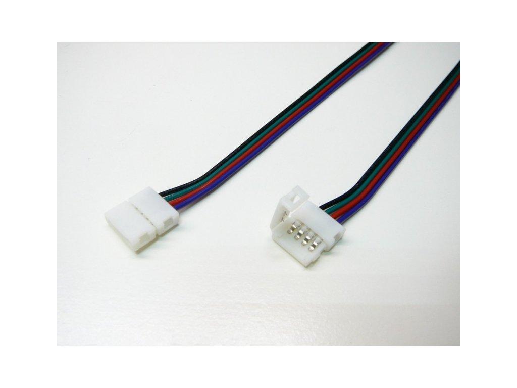 RGB přípojka click pro LED pásek s kabelem - RGB přípojka click 10mm s kabelem