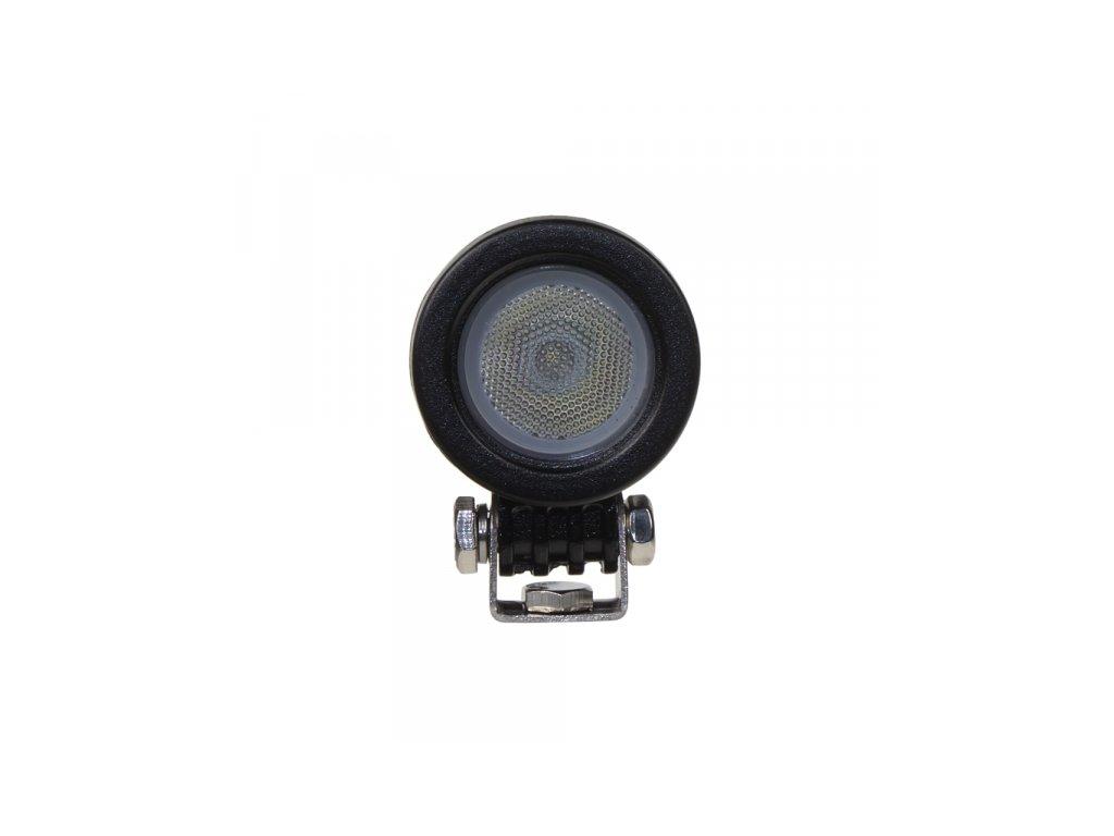 LED světlo kulaté (na motocykl), 1x 10W, 57mm, ECE R10