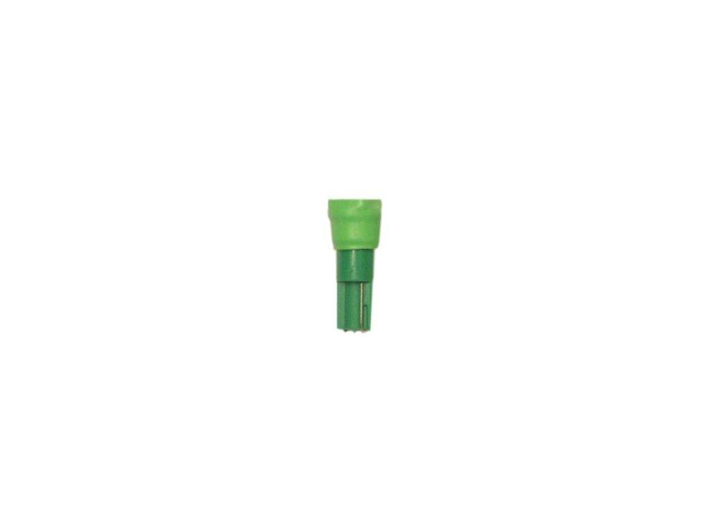 žárovka LED 12V 1,2W W2x4,6d zelená SMD