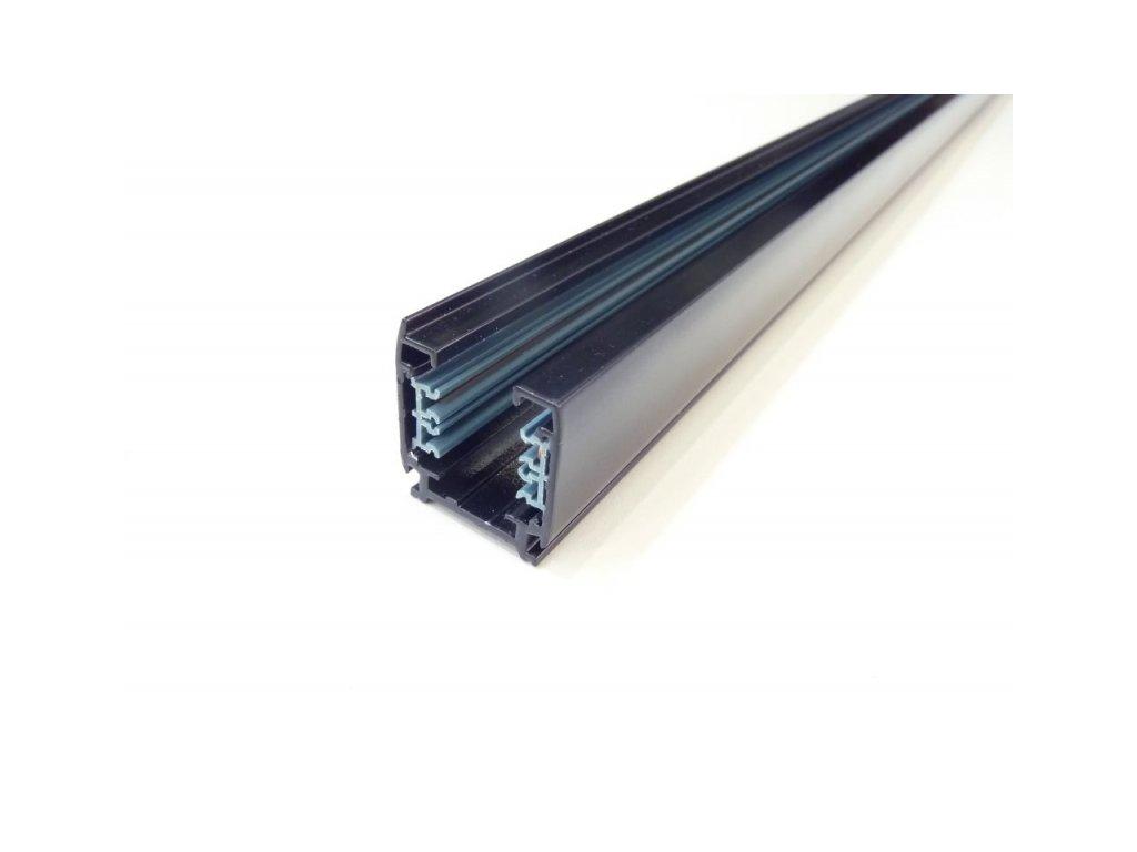 Třífázová lišta 3F pro třífázová svítidla - 2m černá lišta