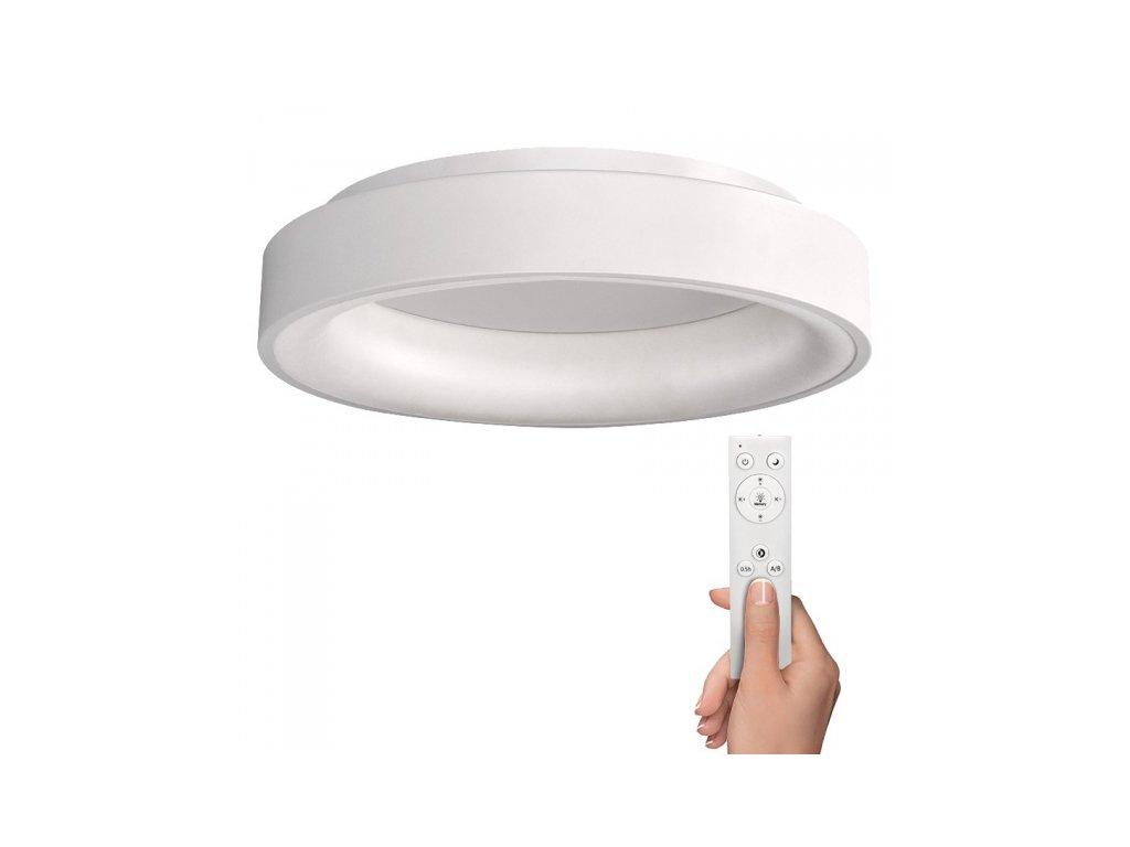 LED stropní světlo kulaté Treviso, 48W, 2880lm, stmívatelné, dálkové ovládání, bílá