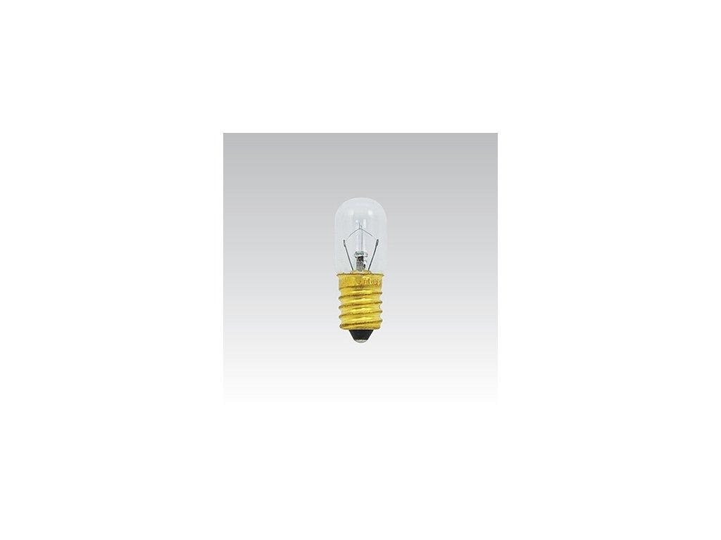 Trubková žárovka 24V 15W E14 čirá T16x45mm