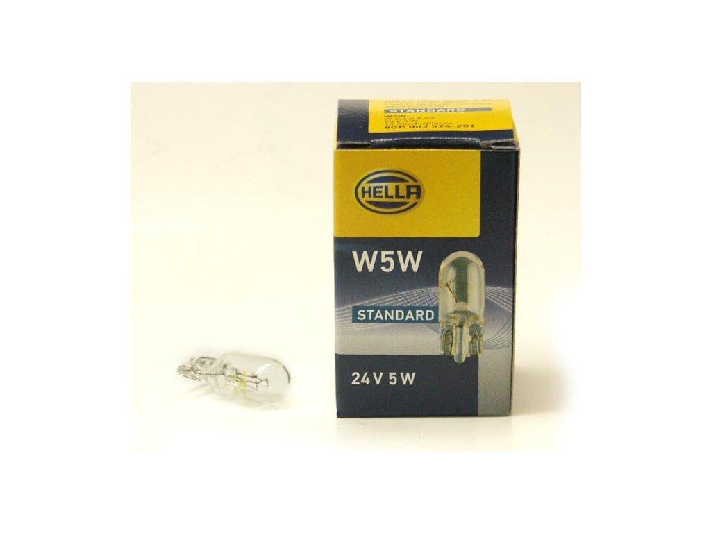 Autožárovka Hella W5W 24V 5W 594-251