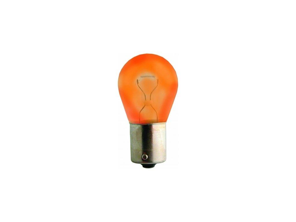žárovka 12V 21W BA15s oranžová