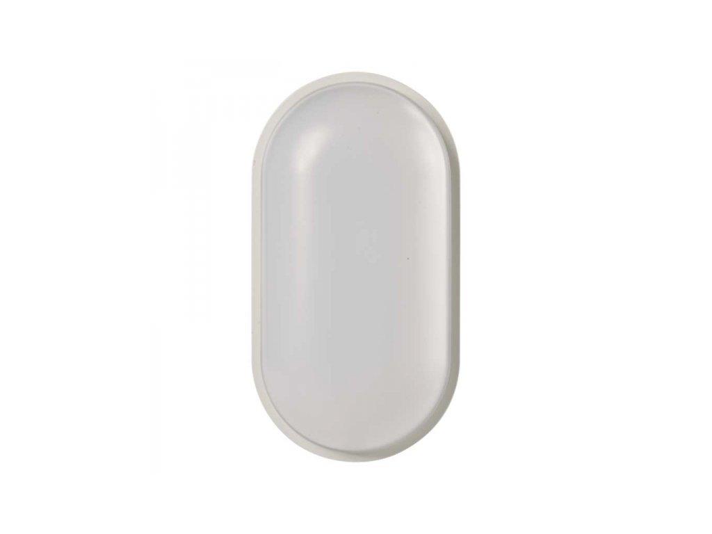 LED přisazené svítidlo bílé, IP65, ovál 20W teplá bílá