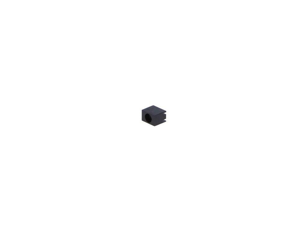 Objímka diody LED 3mm polyamid úhlová černá UL94V-2 H: 6,4mm