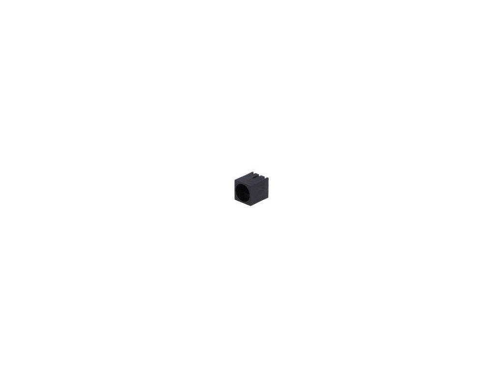 Objímka diody LED 5mm polyamid úhlová 3 PIN černá UL94V-2