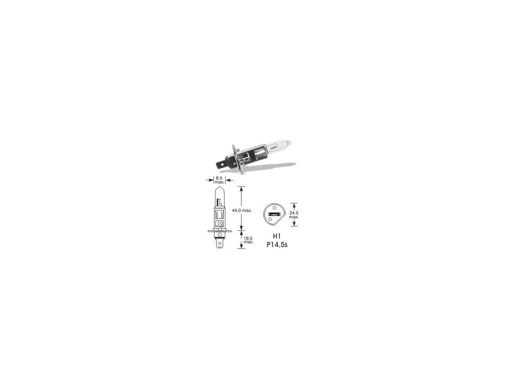 Autožárovka 12V H1 55W [+50%] sada (2 ks) - P14,5s