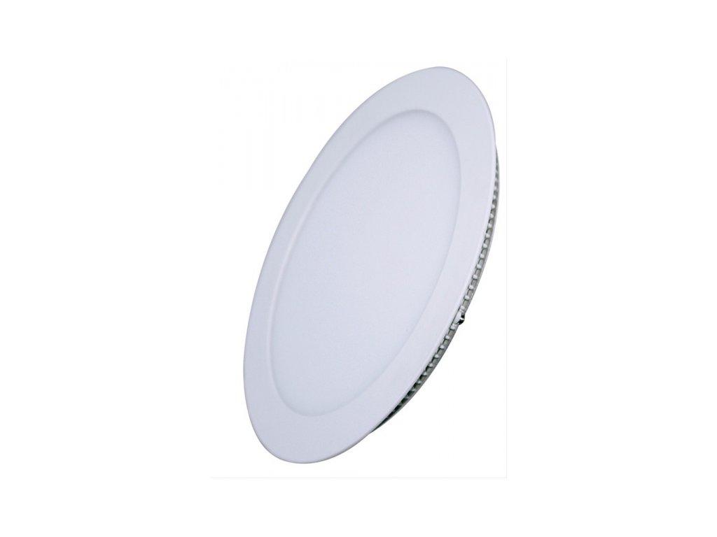 LED mini panel podhledový 12W, 900lm, 3000K, tenký, kulatý, bílé