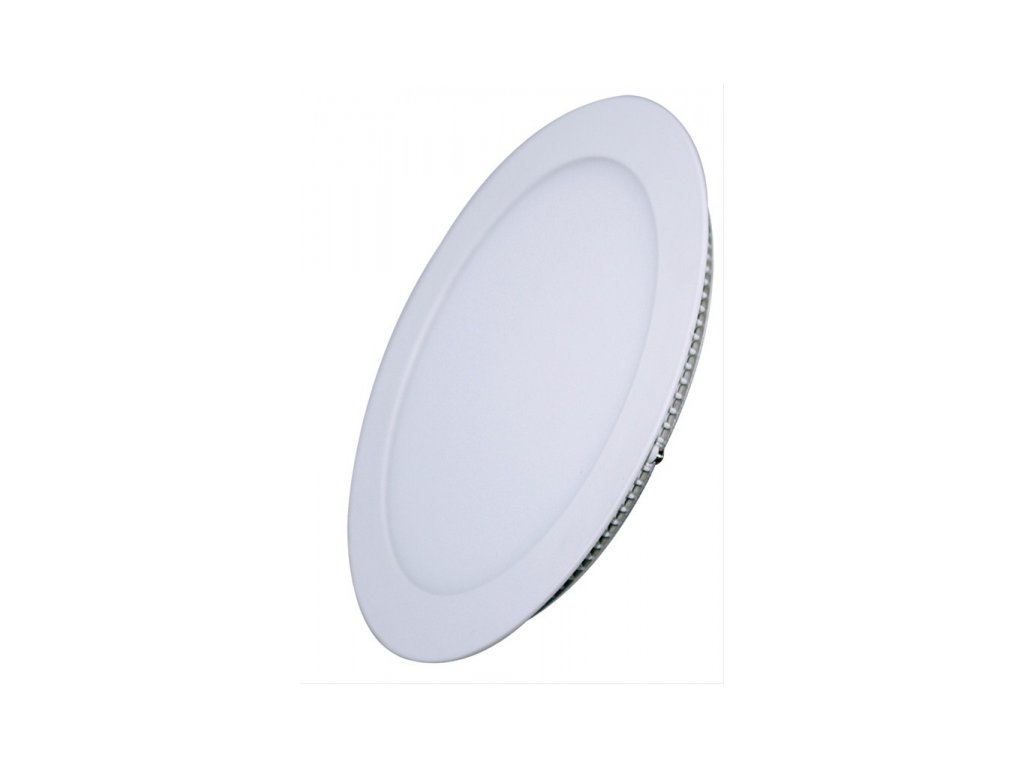 LED mini panel podhledový 18W, 1530lm, 3000K, tenký, kulatý, bílé